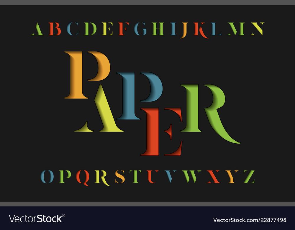 Colorful stencil alphabet