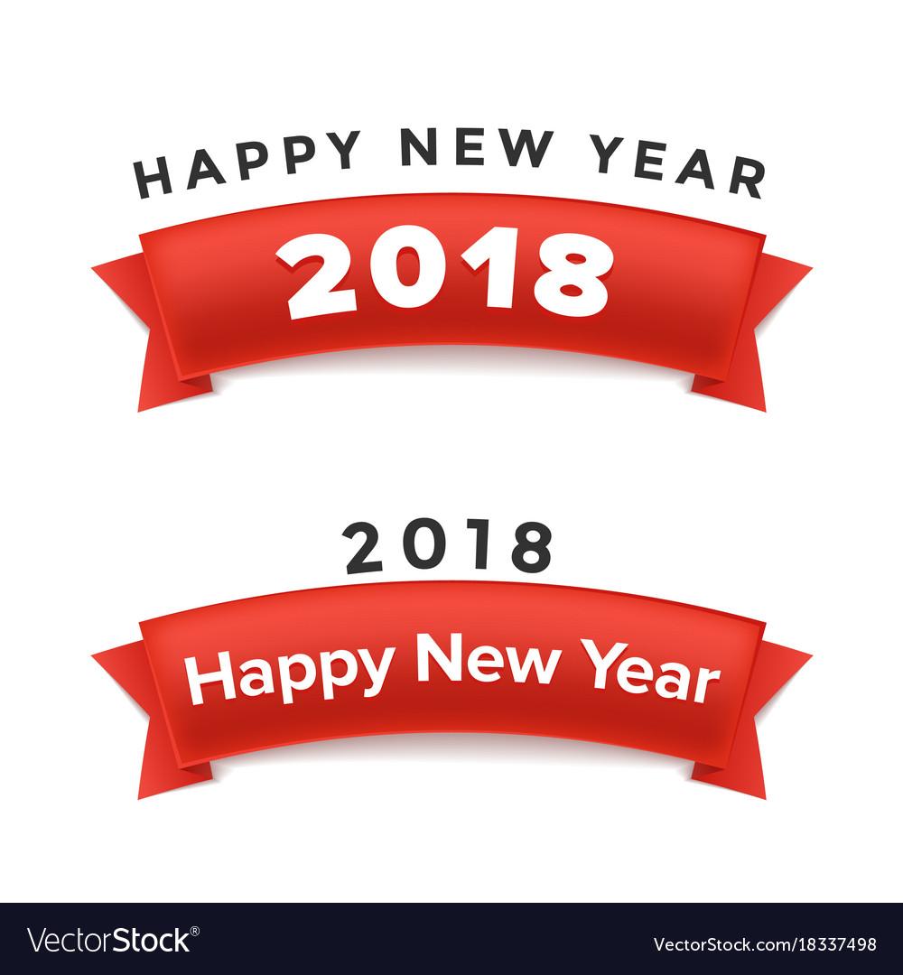 Creative happy new year 2018 design