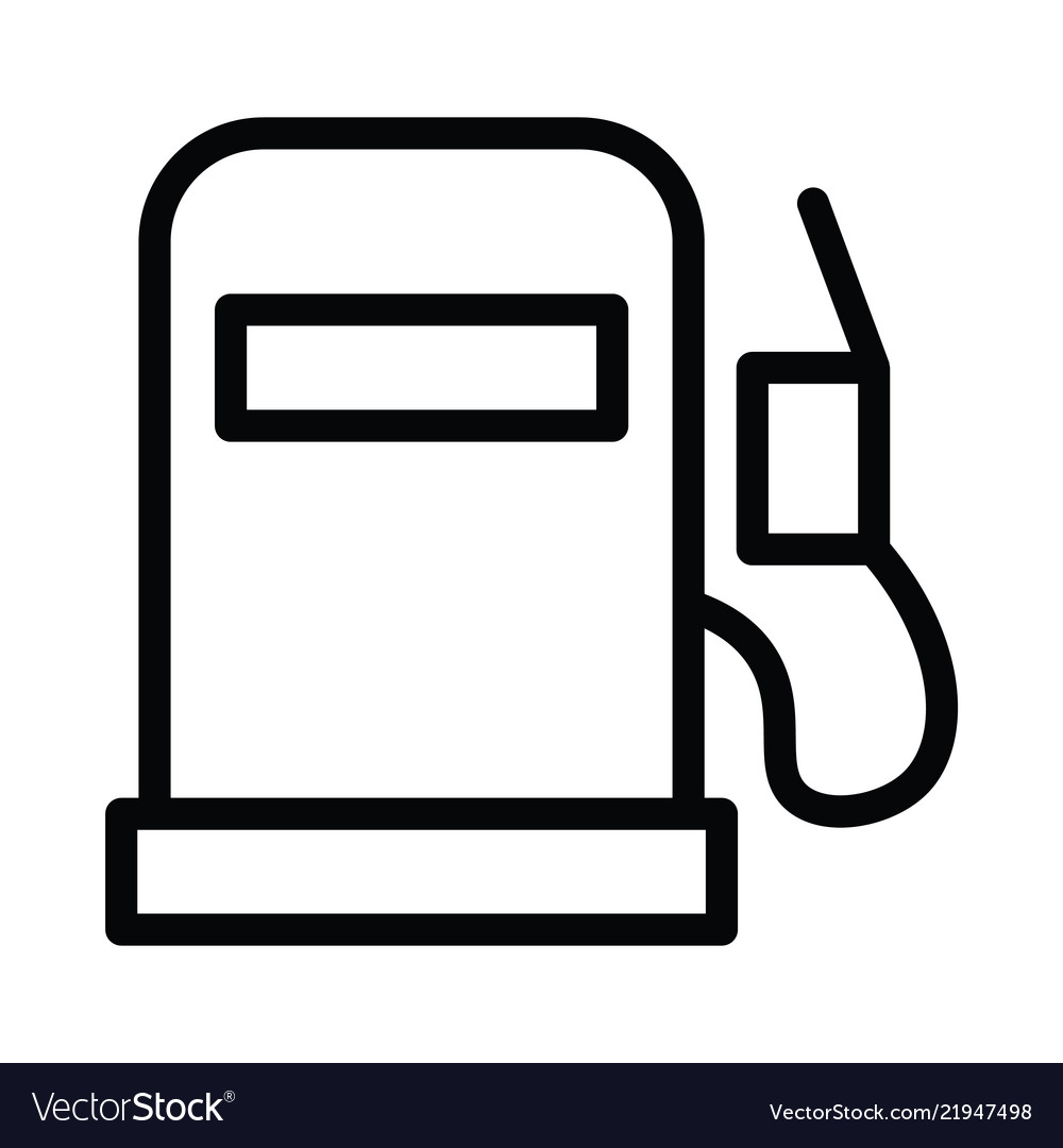 Fuel icon with outline line style