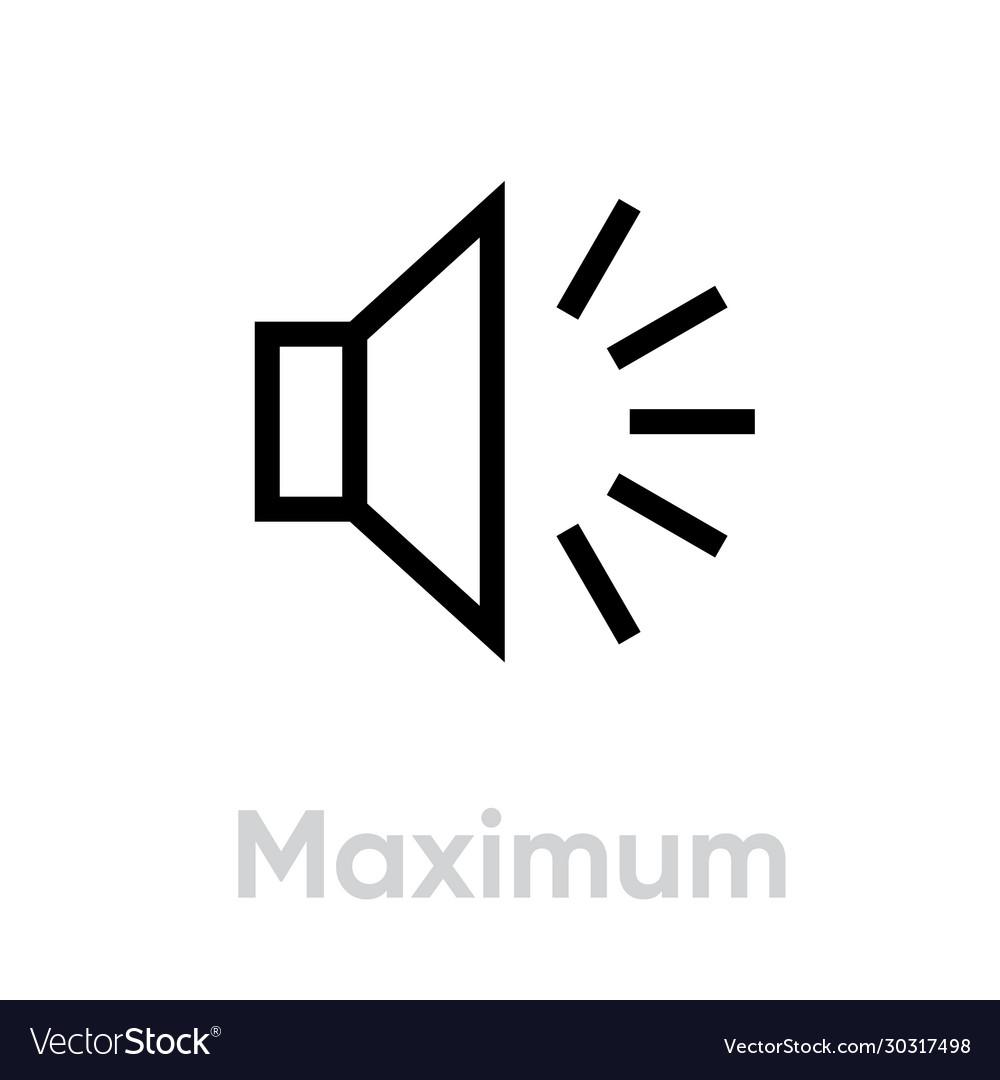 Maximum icon editable outline