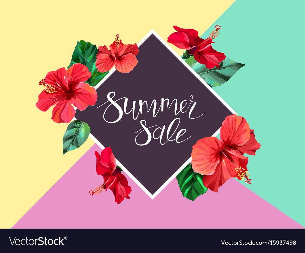 Summer sale announcement poster banner flyer