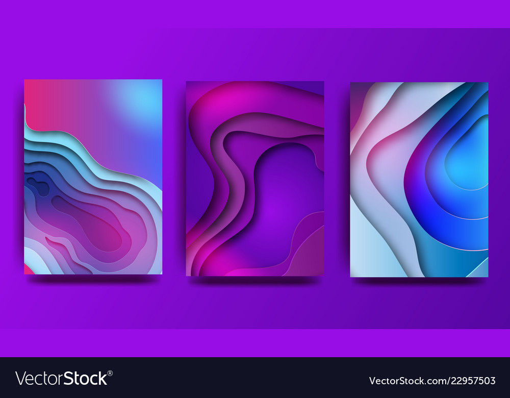 A4 abstract color 3d paper art set