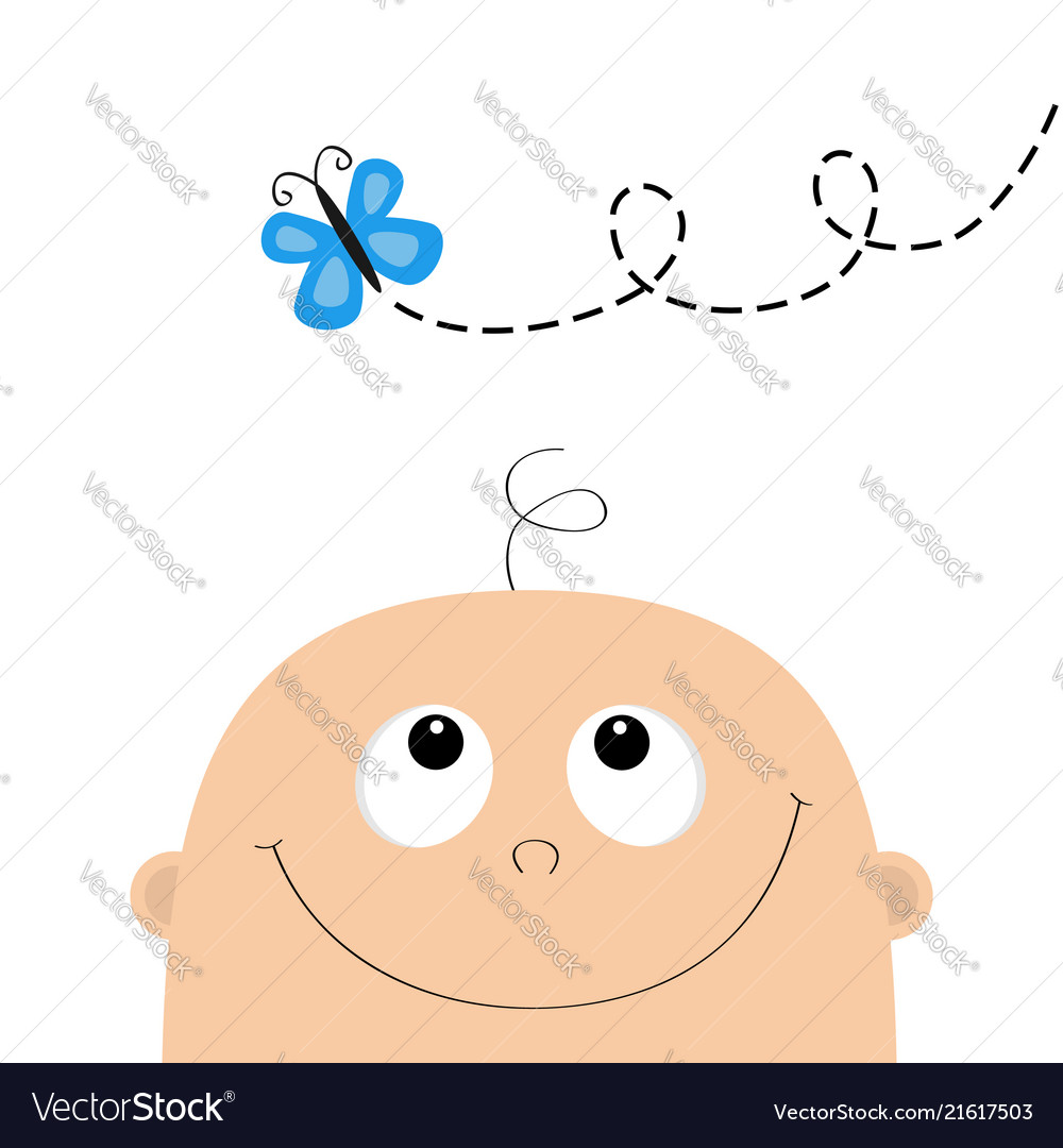 Baby Shower Greeting Card Template Kid Face