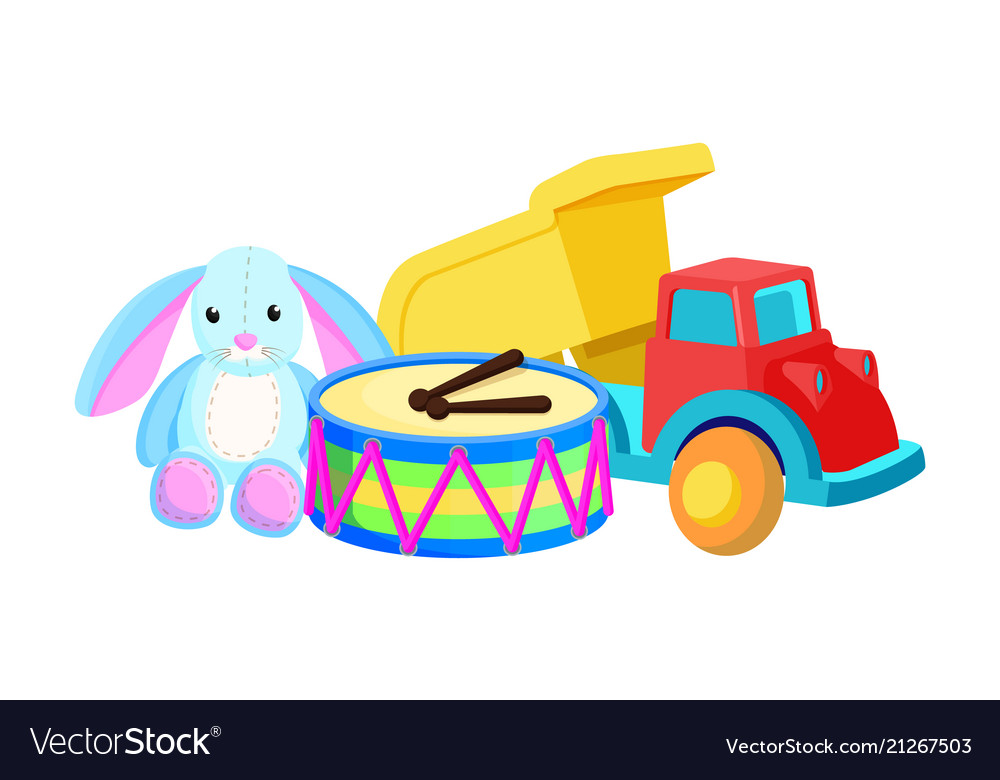 Bunny drums christmas toys set