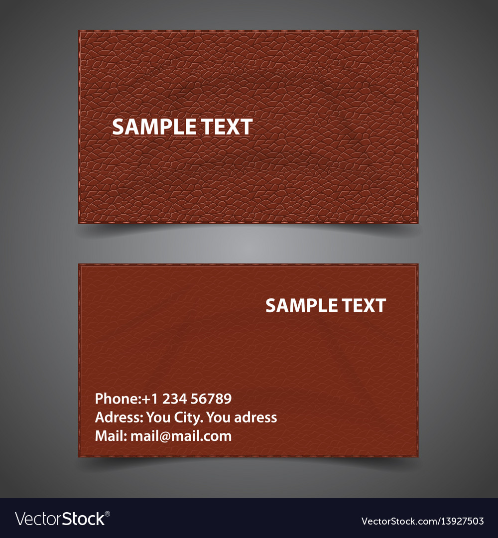 Calling card skin vector image