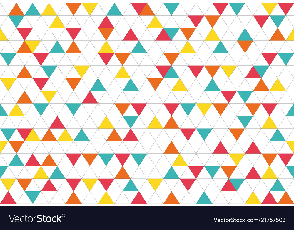 Colorful abstract triangles retro paper pattern