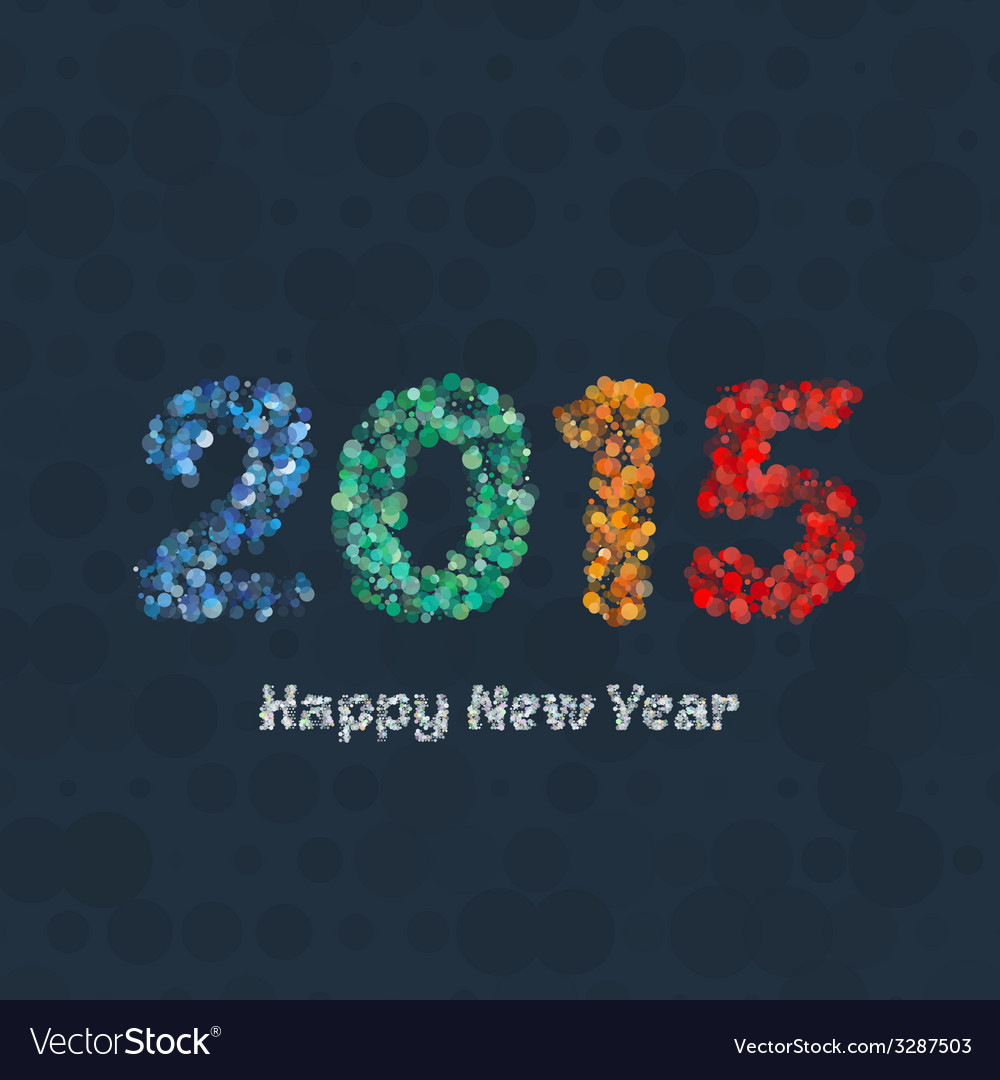 Creative colorful circle pattern happy new year