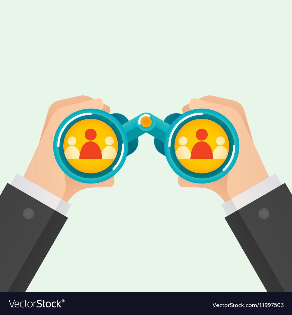 Hand and Binocular Recruitment concept