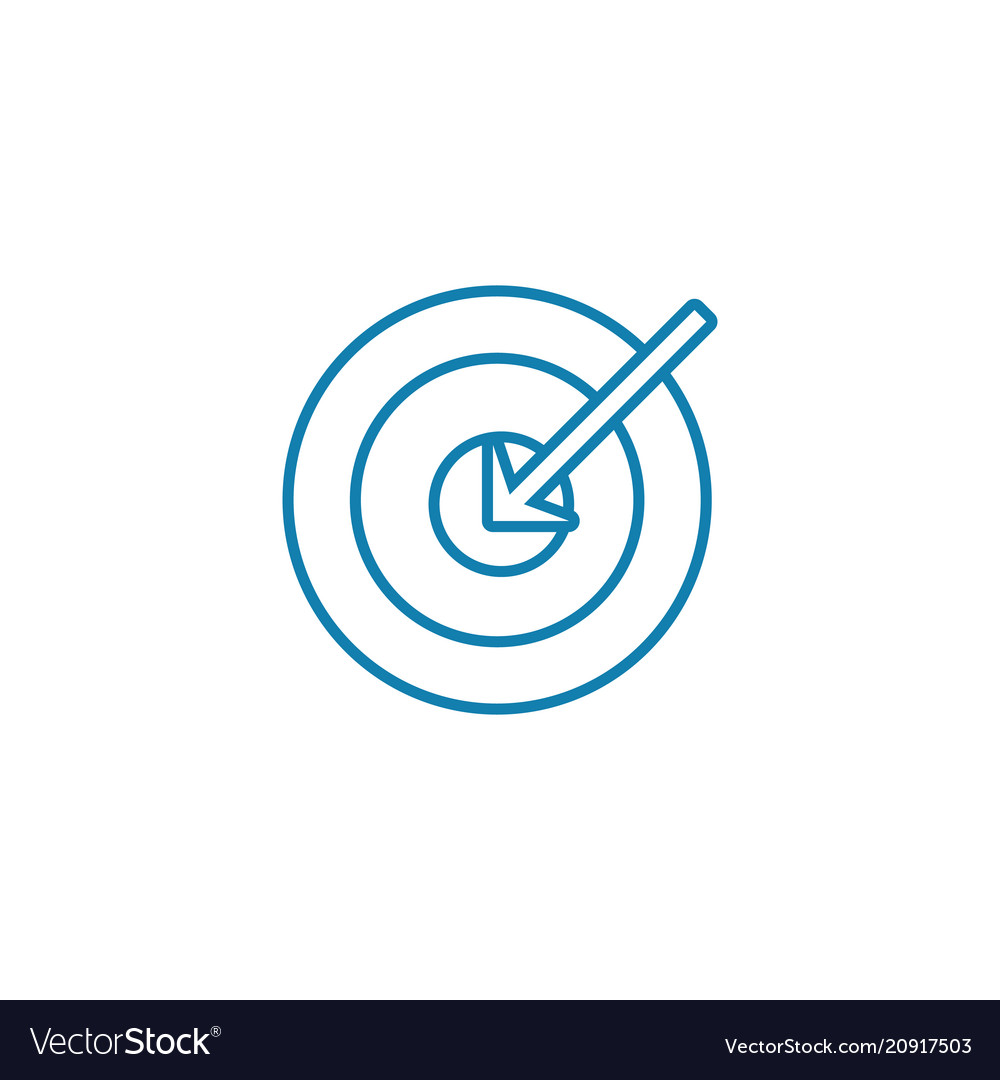 Main objective linear icon concept main objective