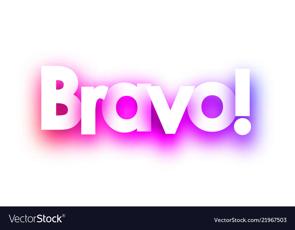 56457e8f31 Pink spectrum bravo sign on white background Vector Image