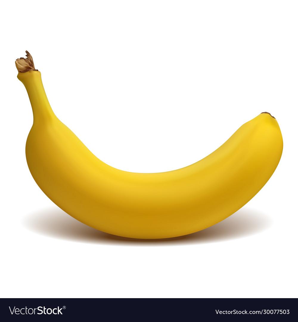 Ripe yellow banana isolated on white background