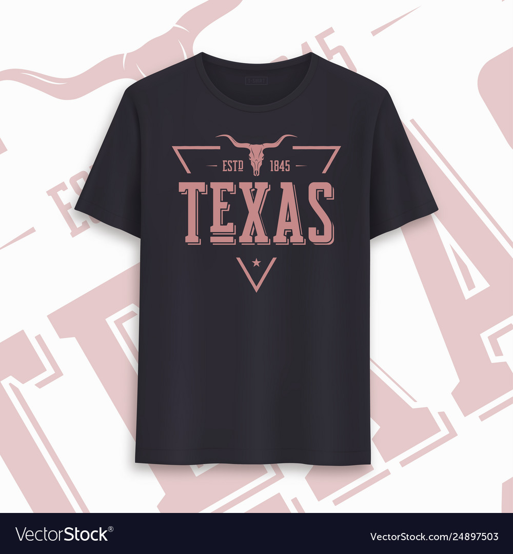 Texas state graphic t-shirt design typography
