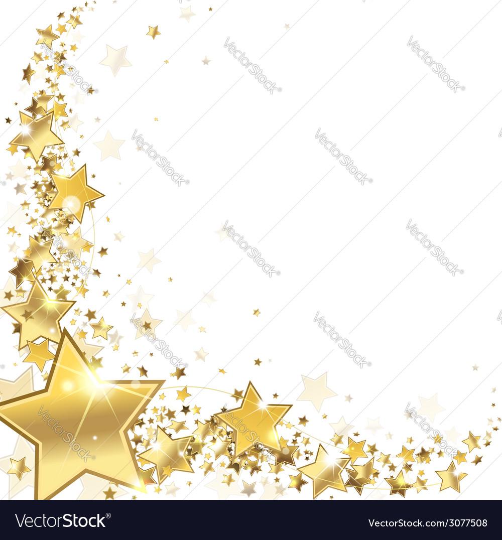 Frame gold stars Royalty Free Vector Image - VectorStock