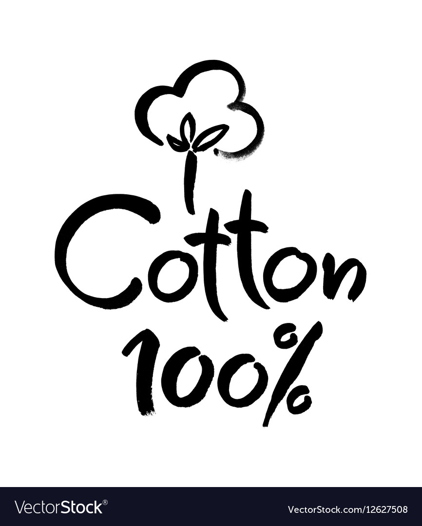 Natural organic cotton label sticker logo