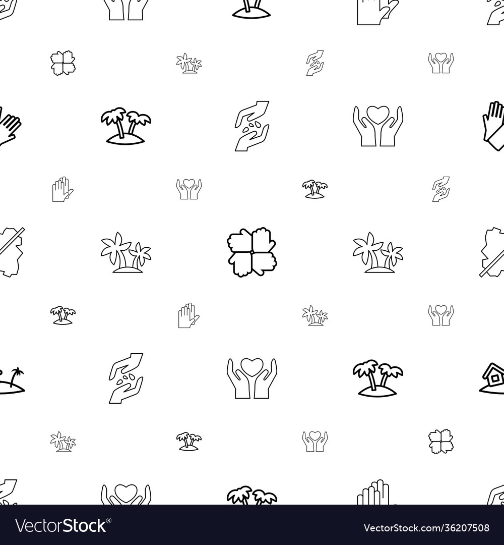 Palm icons pattern seamless white background