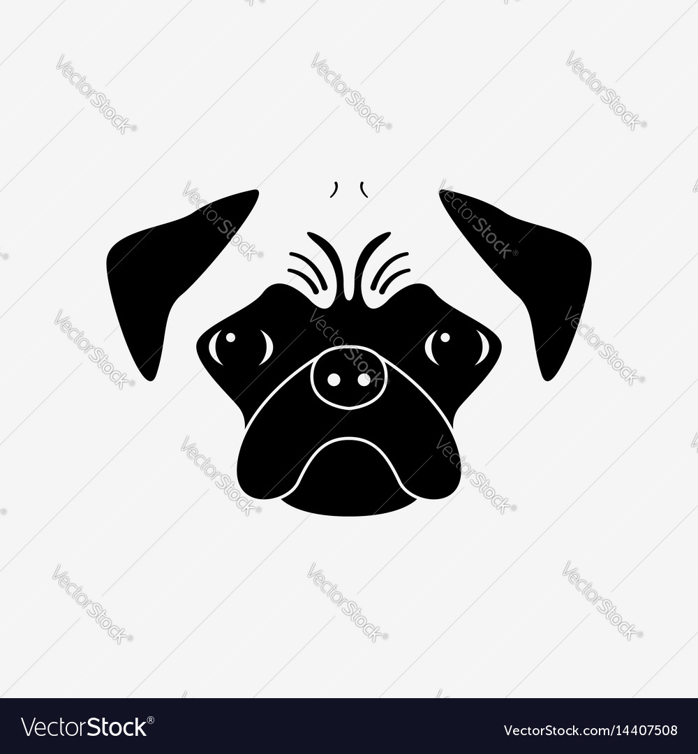 Pug dog vector image