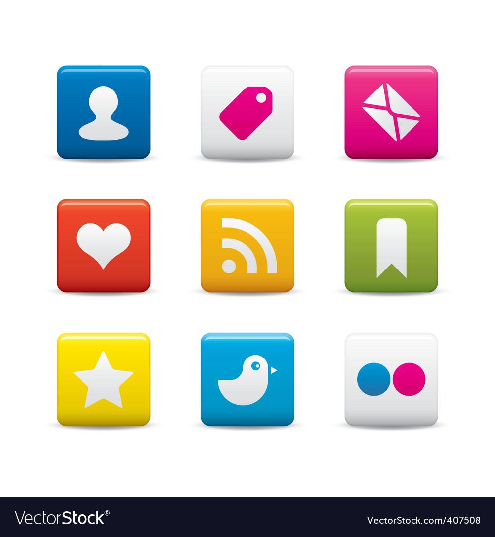 Social media icon sets vector image