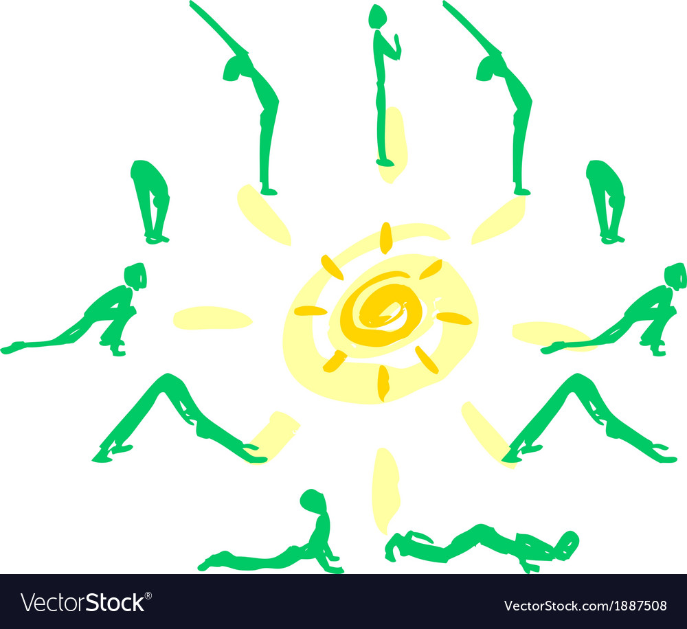 Yoga sequence sun salutation royalty free vector image yoga sequence sun salutation vector image m4hsunfo