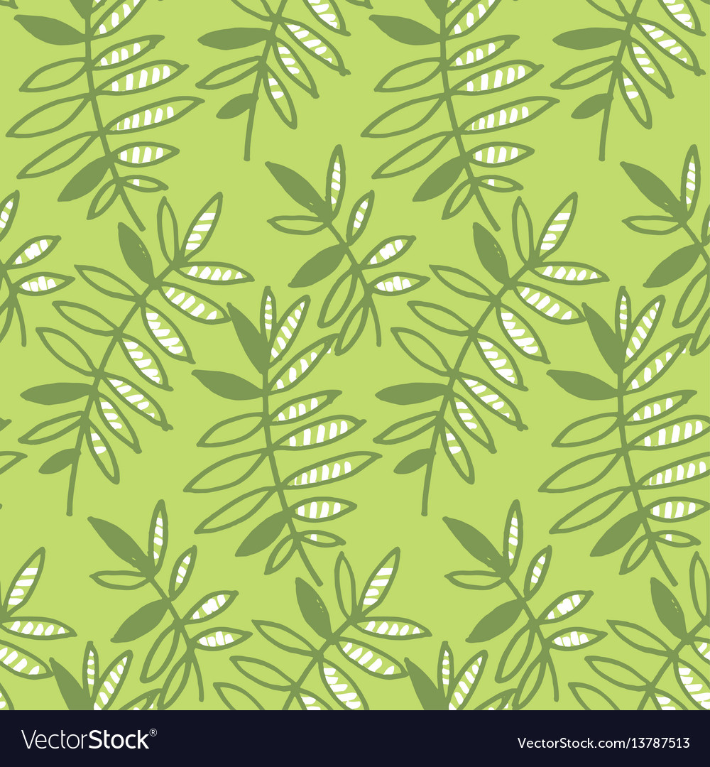 Abstract tropical leaves seamless pattern for