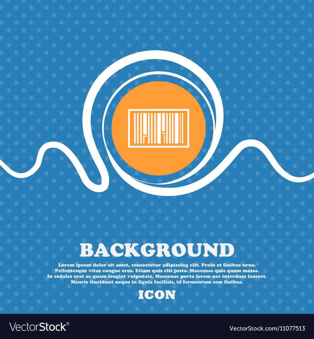 Barcode Icon sign Blue and white abstract