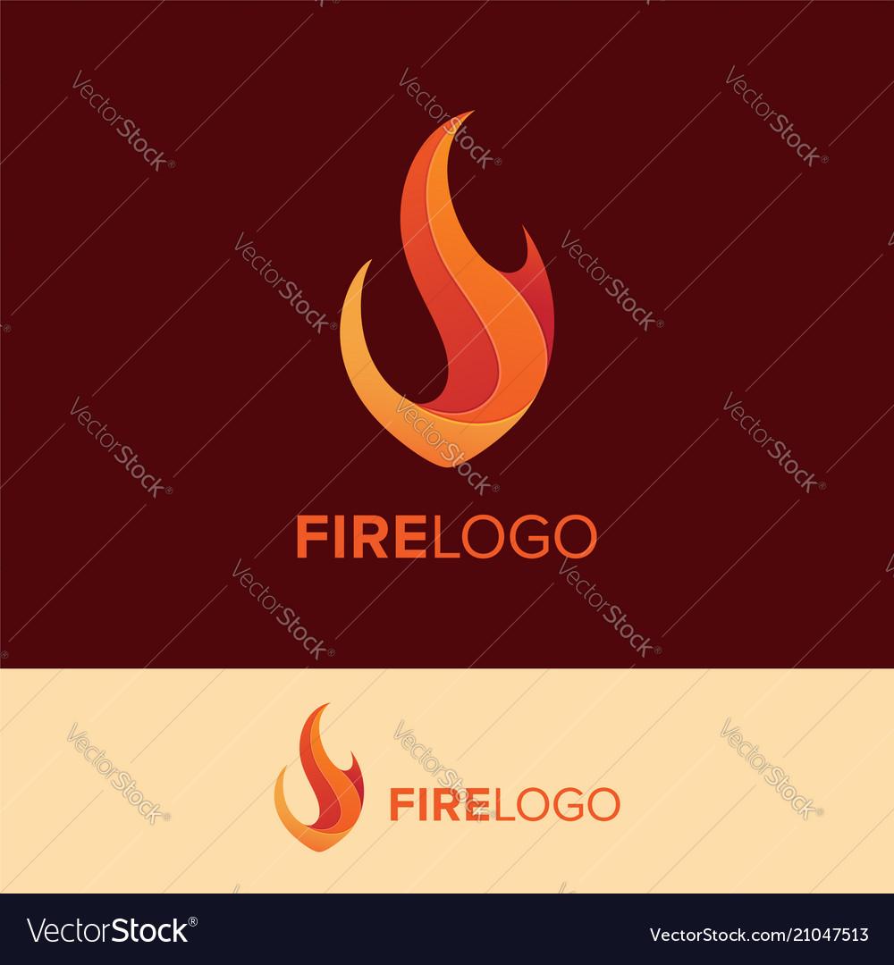Creative fire logo concept
