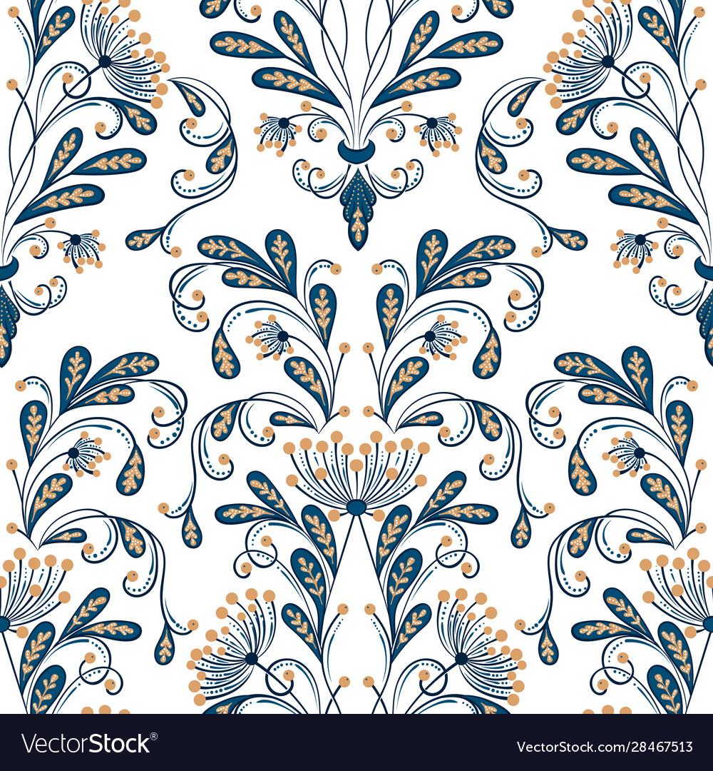 Flower seamless pattern element elegant