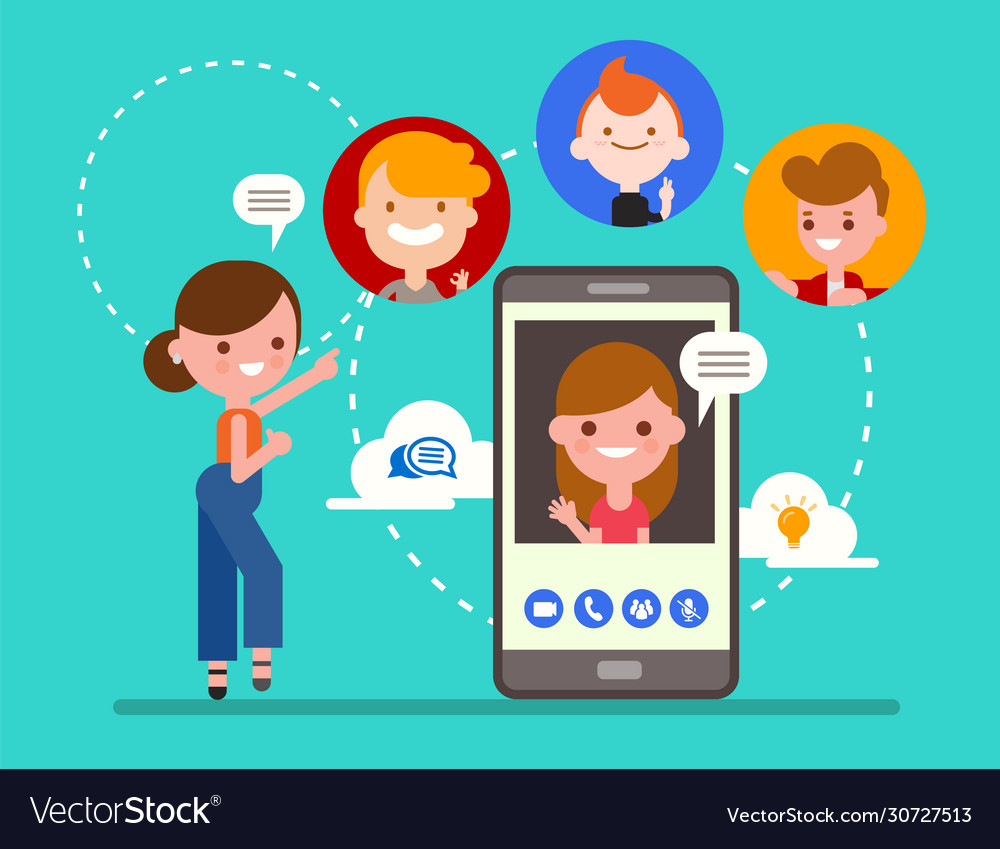 Online video call chatting