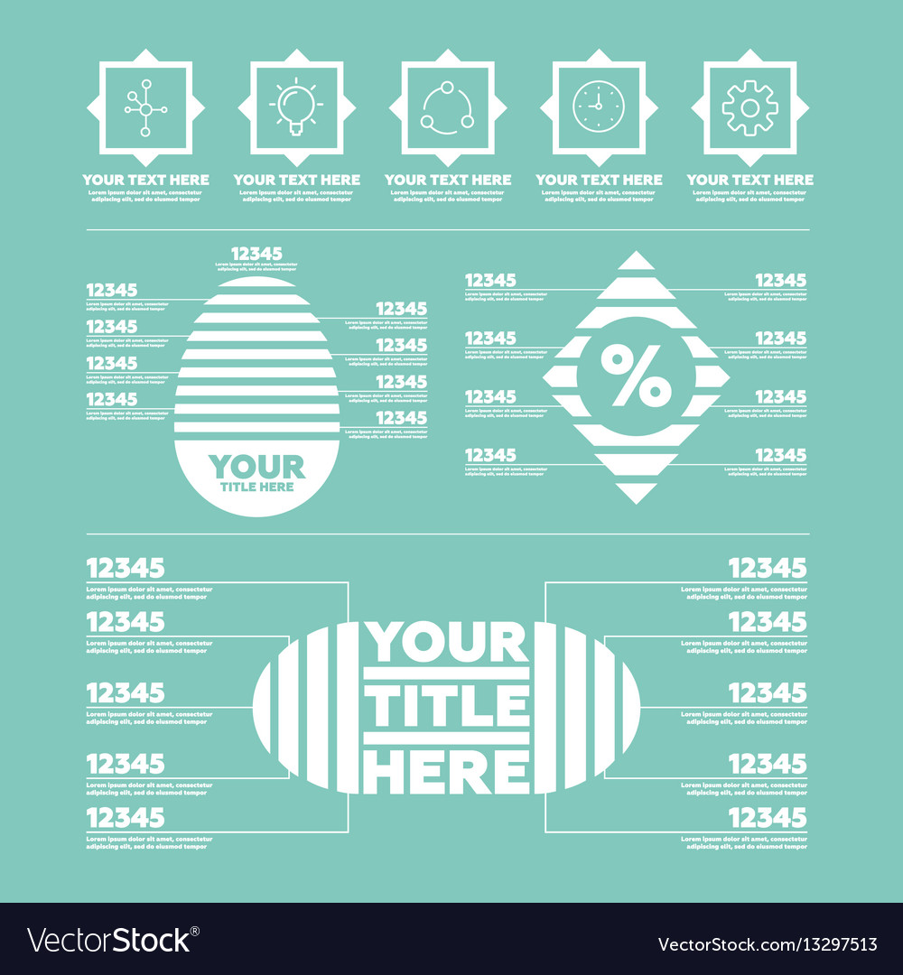 Infographic elements steps icons and charts