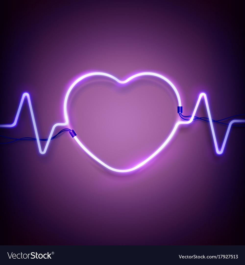 neon heart frame royalty free vector image vectorstock