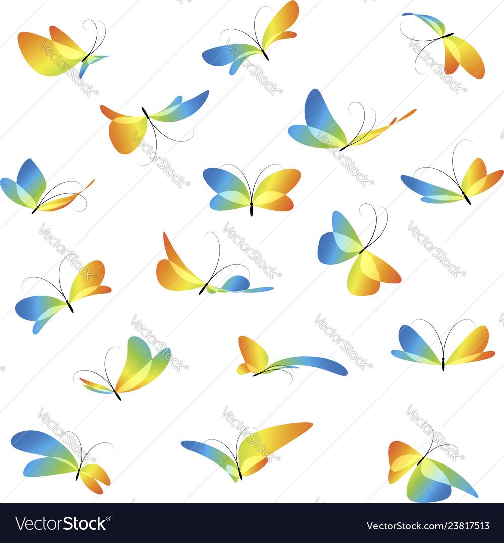 Set different butterflies