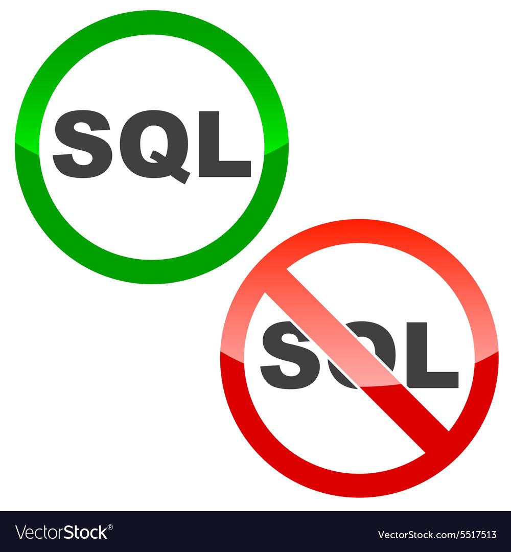 SQL permission signs set
