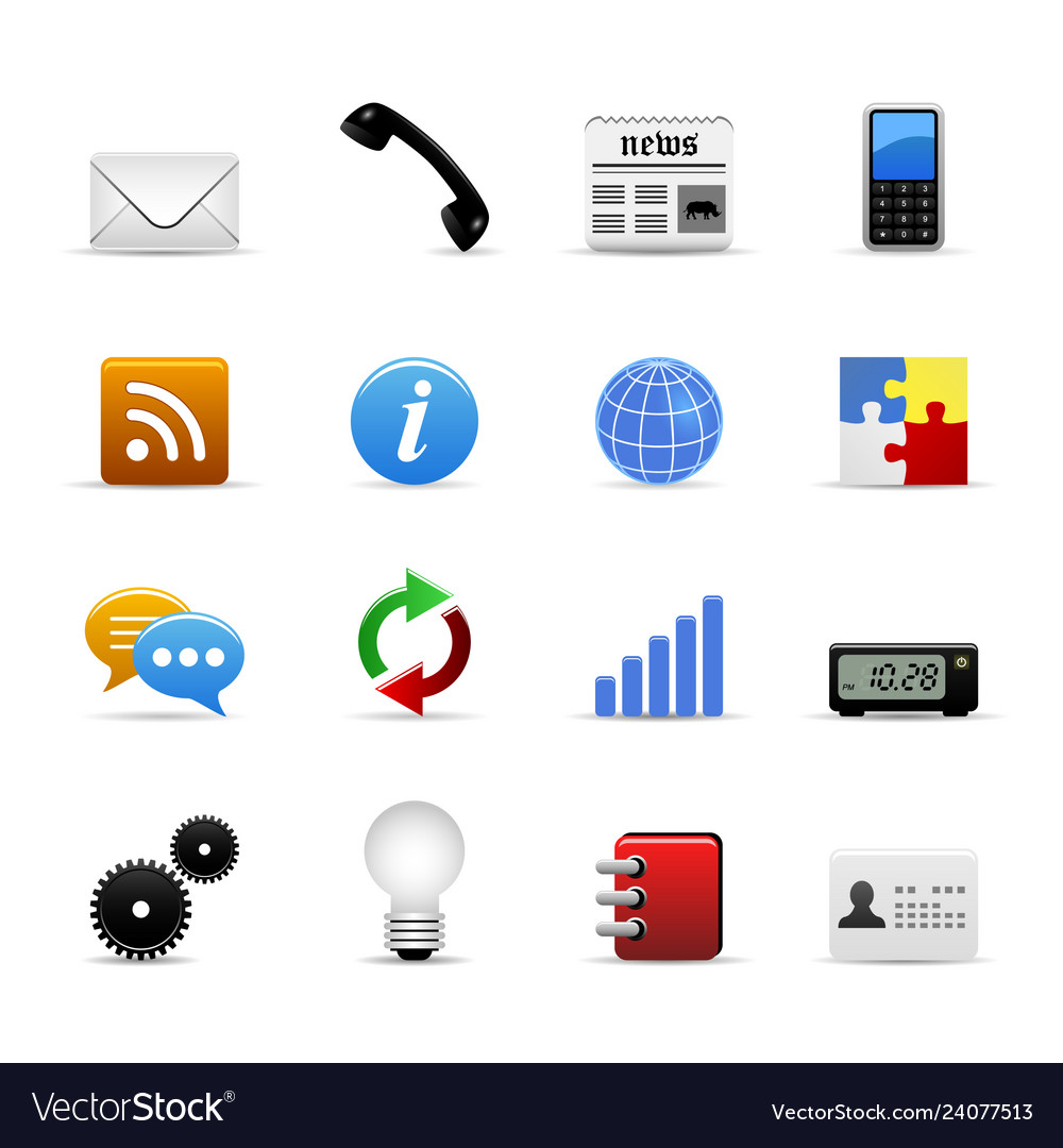Web icons a set web icons in