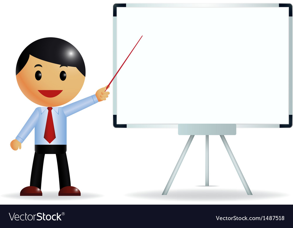 Businessman presenting on whiteboard