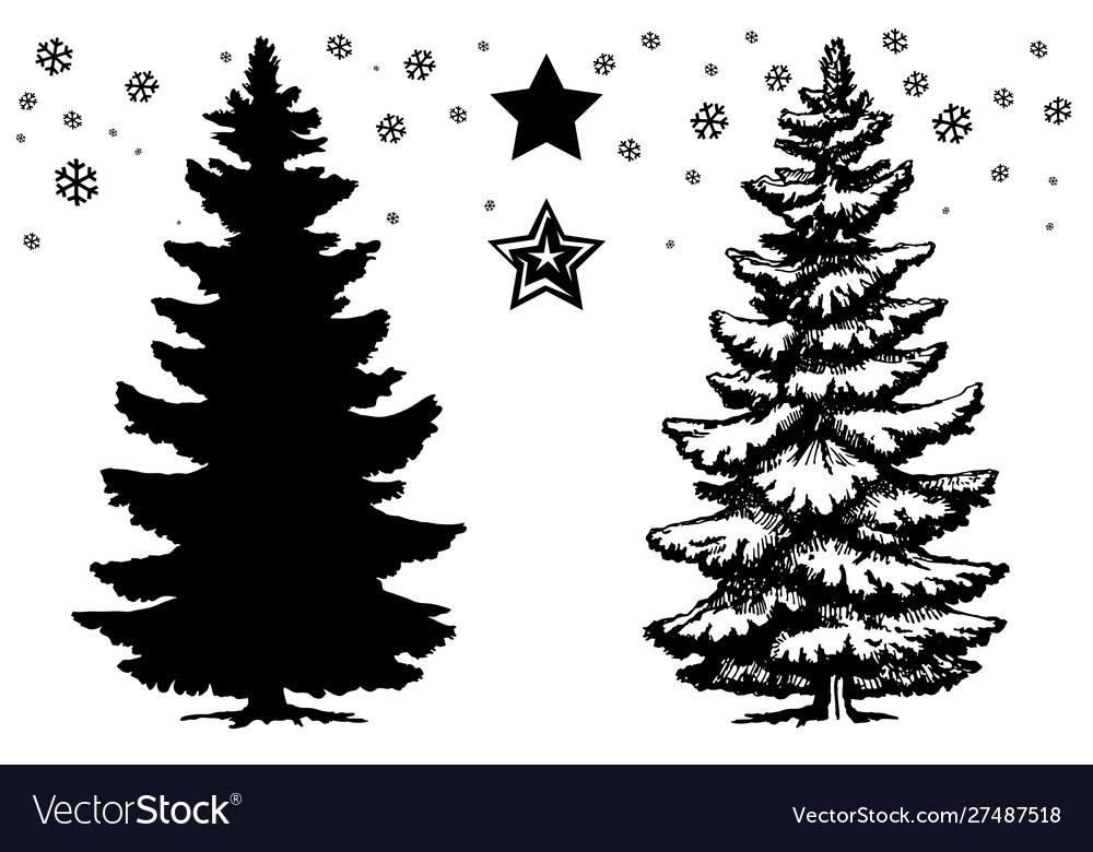 Christmas tree set design template