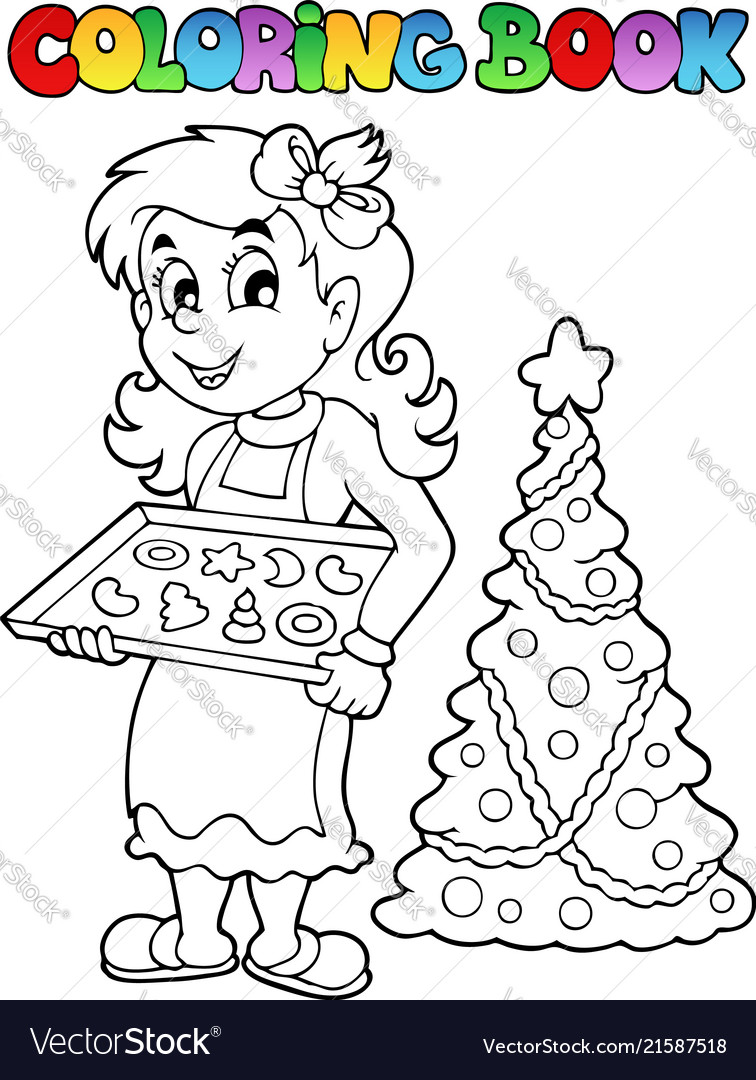 - Coloring Book Christmas Topic 9 Royalty Free Vector Image