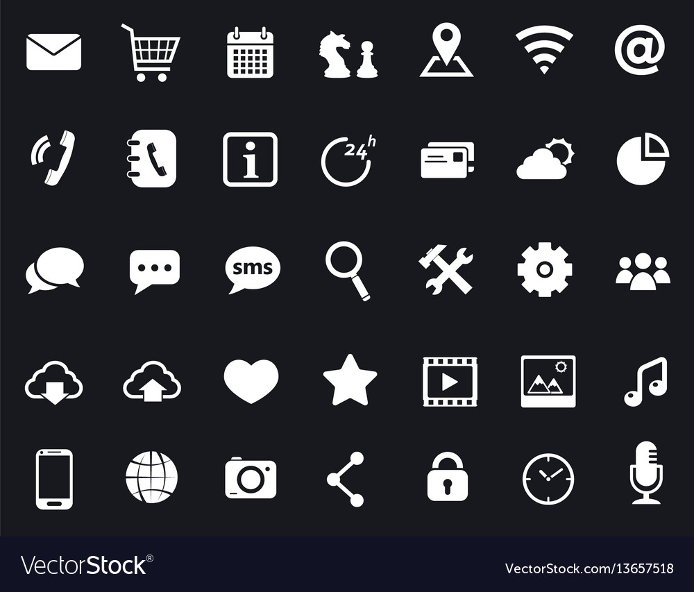 Communication media and mobile icons