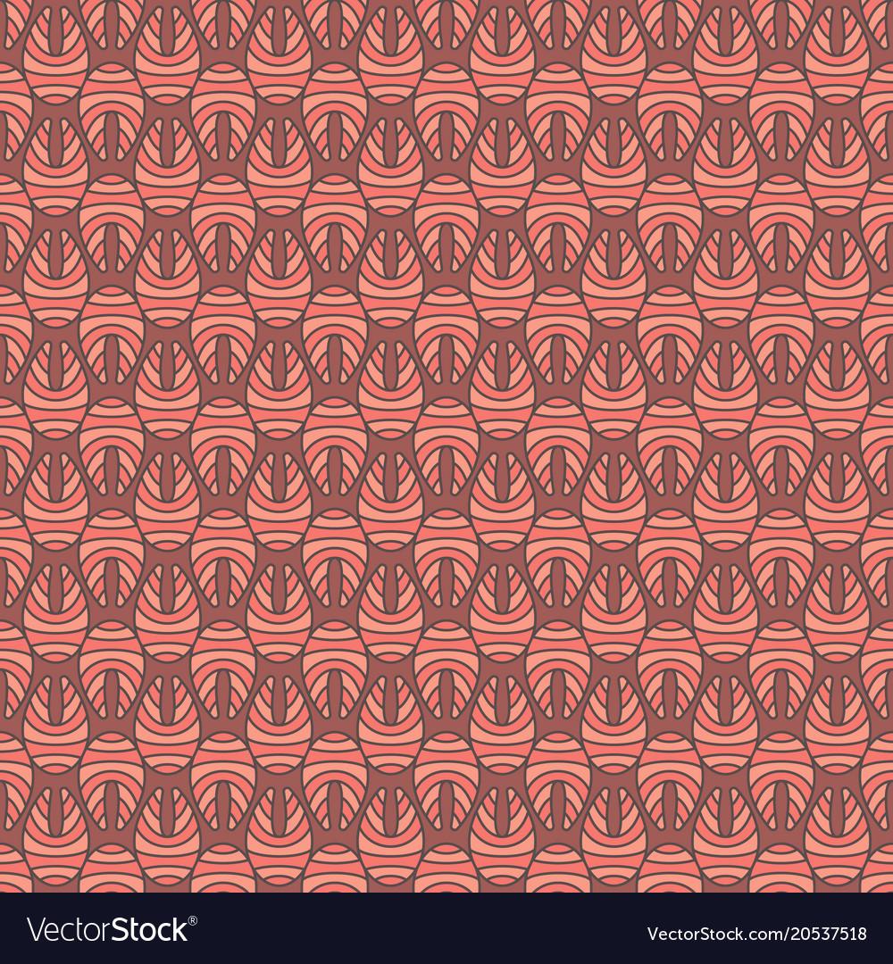 Creative salmon fish steak colored seamless Vector Image