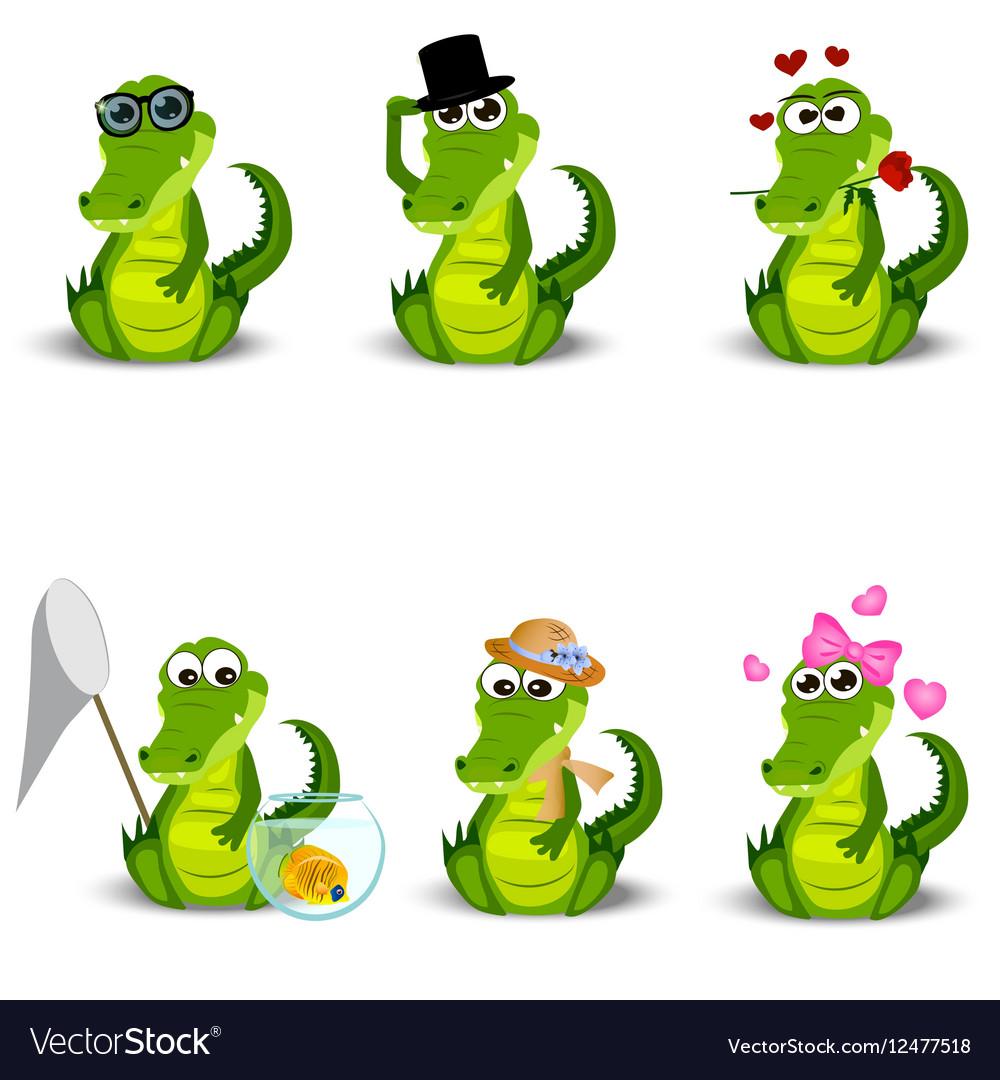 Cute crocodile or alligator