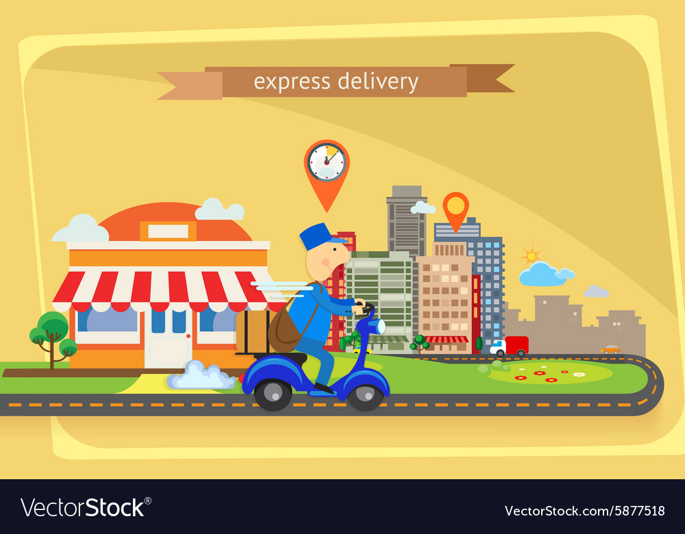Express delivery flat design