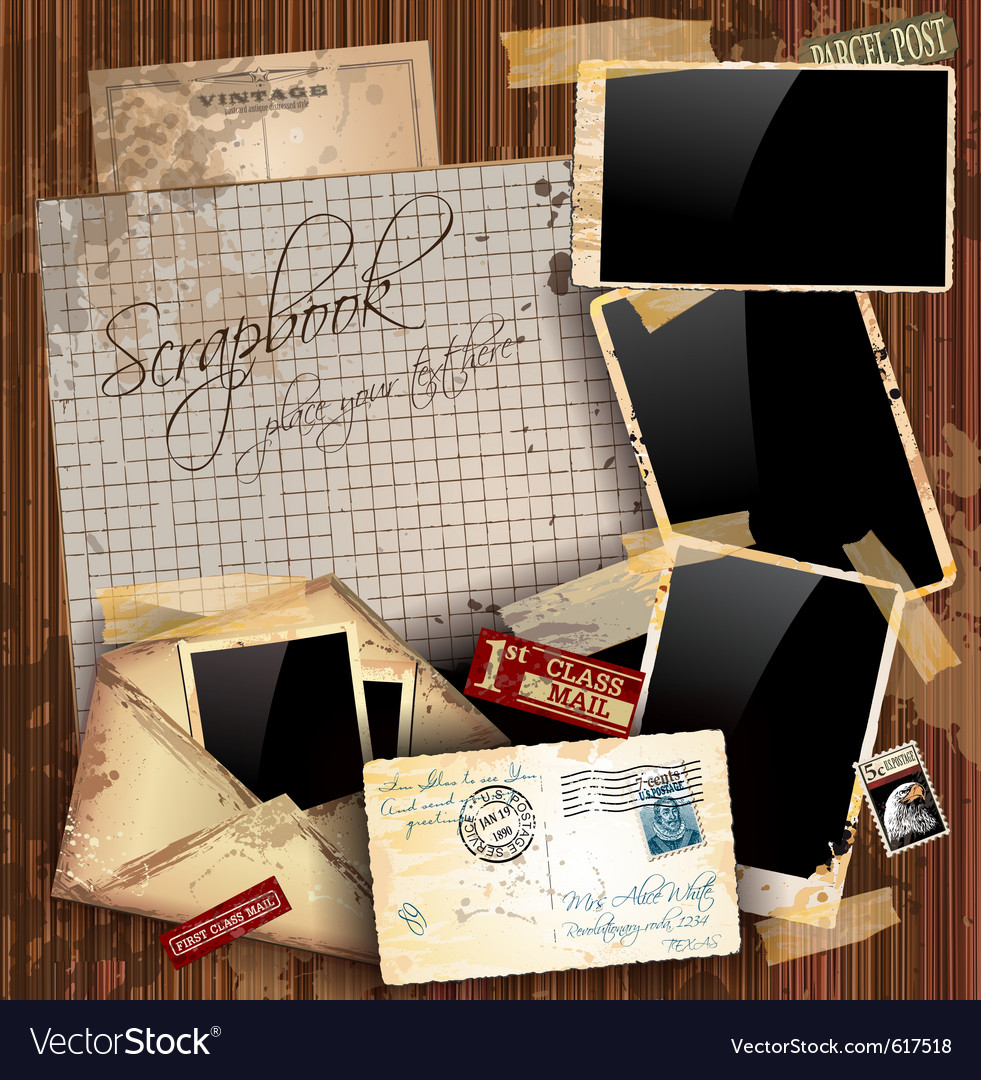 Grunge envelopes vector image