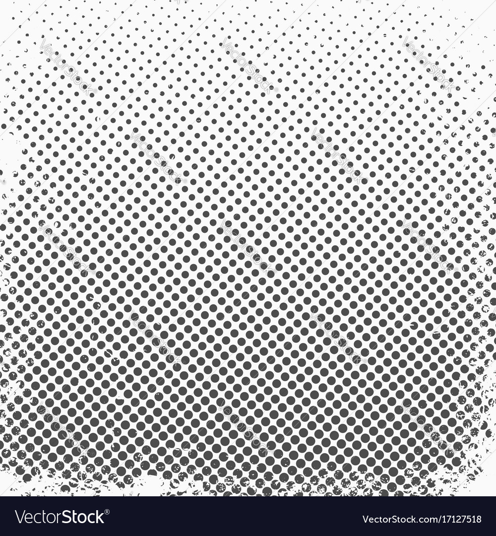 Halftone dots monochrome texture background for