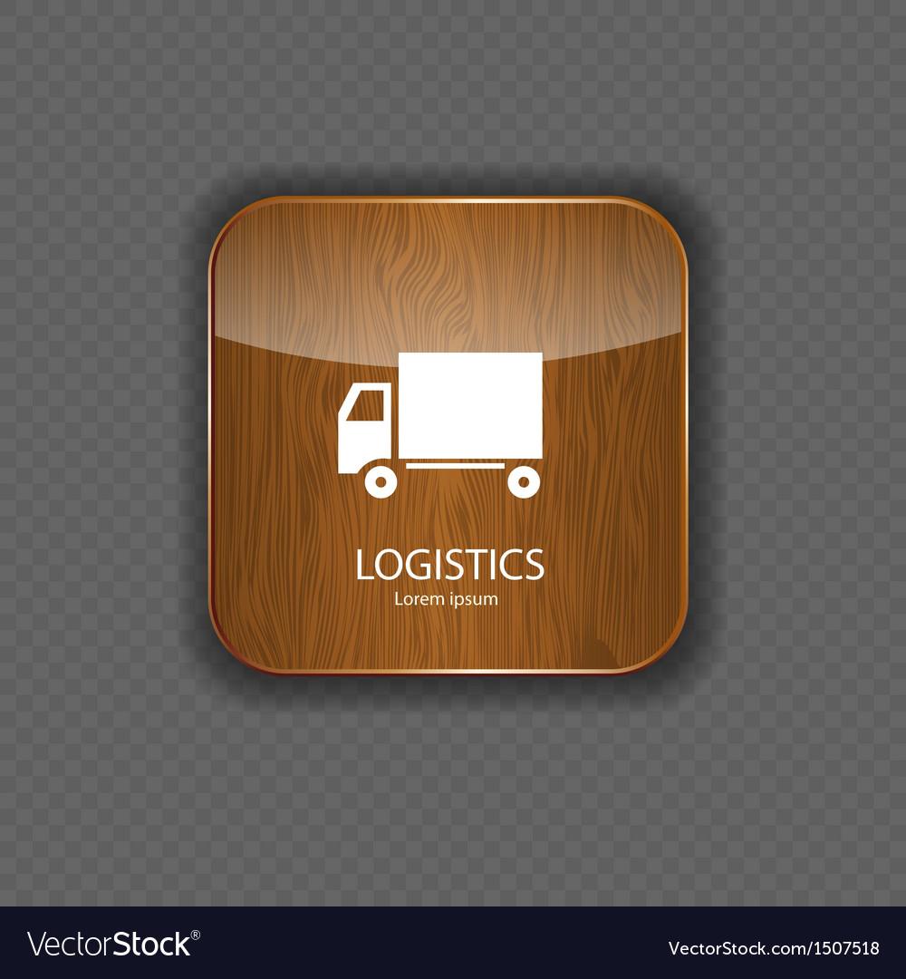 Logistics wood application icons
