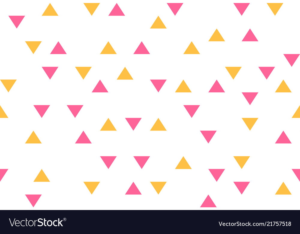 Pink yellow colorful abstract triangles retro