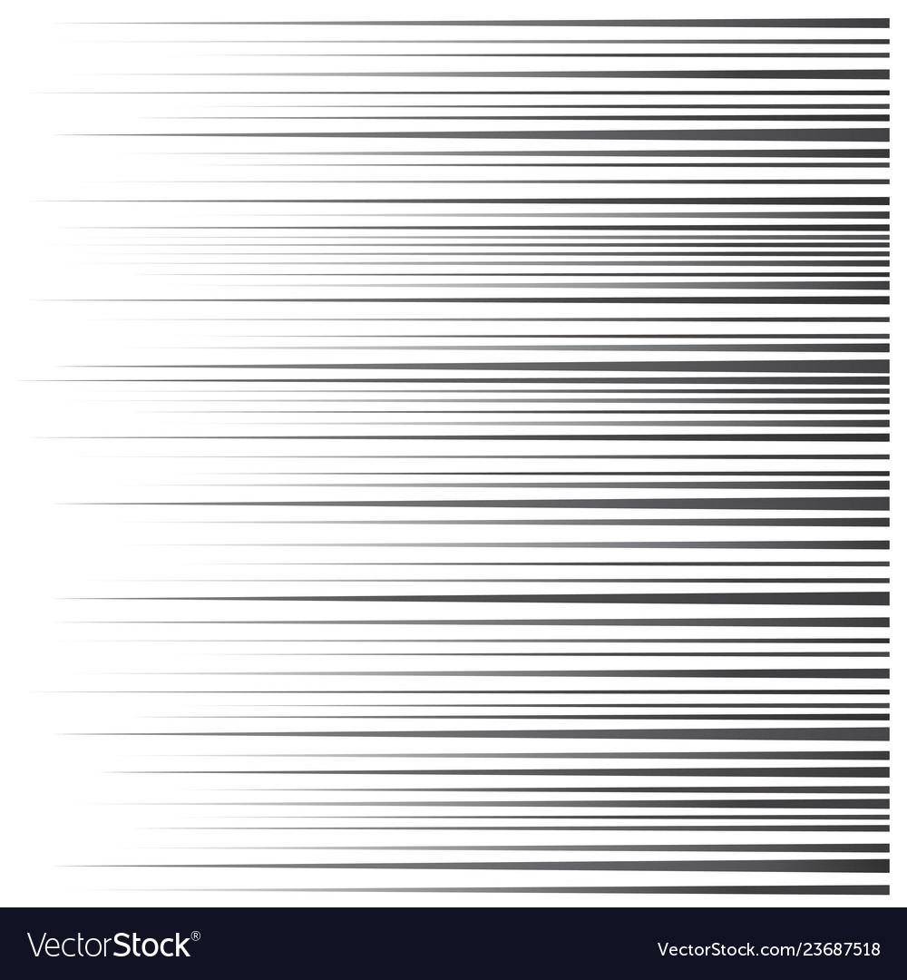 Speed line set horizontal motion effect flying