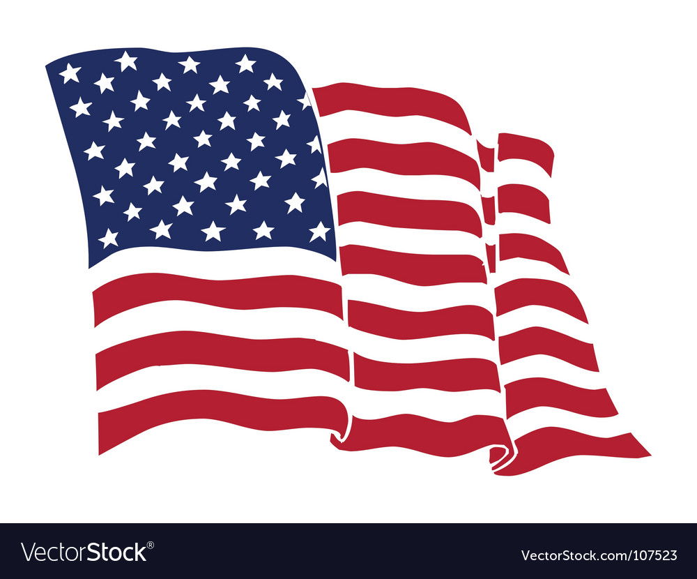 american flag royalty free vector image vectorstock rh vectorstock com vector usa flag black and white us flag vector eps