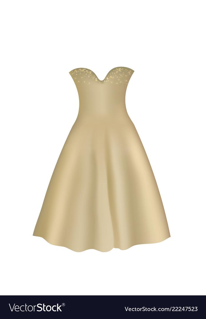 Brown elegant dress