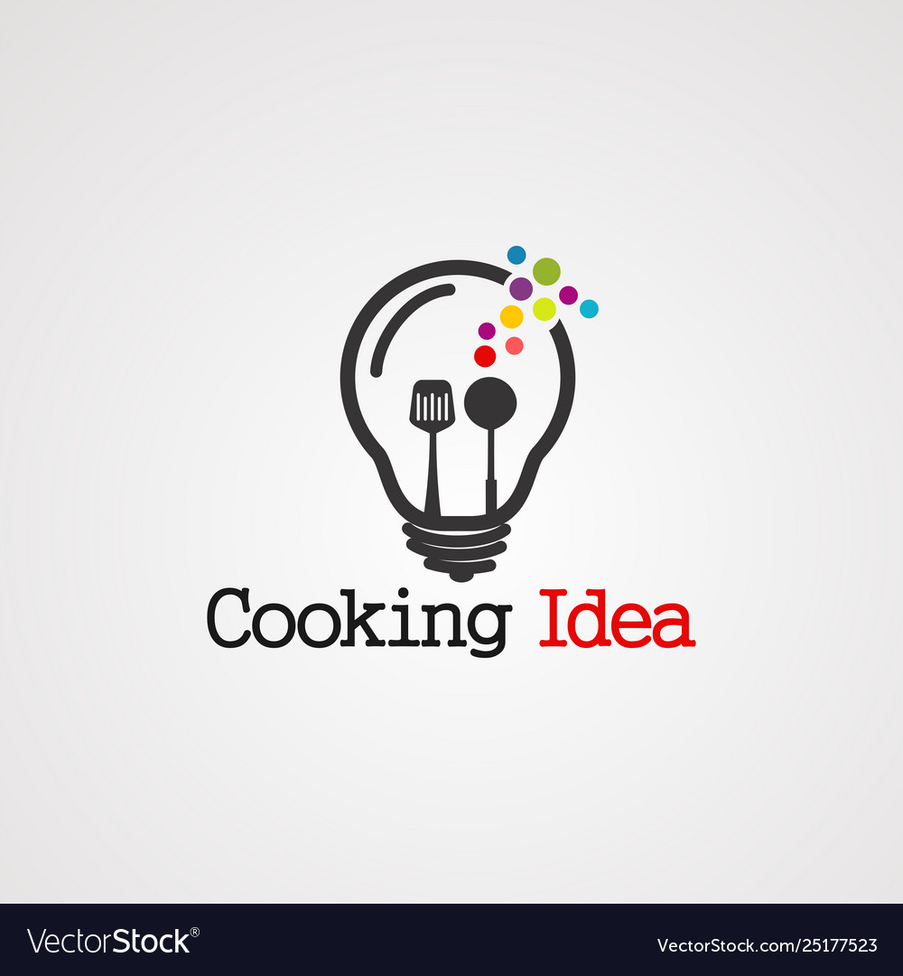 Cooking idea logo icon element and template
