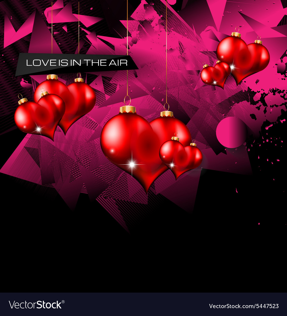 Happy Valentines Day background with lovely Hearts