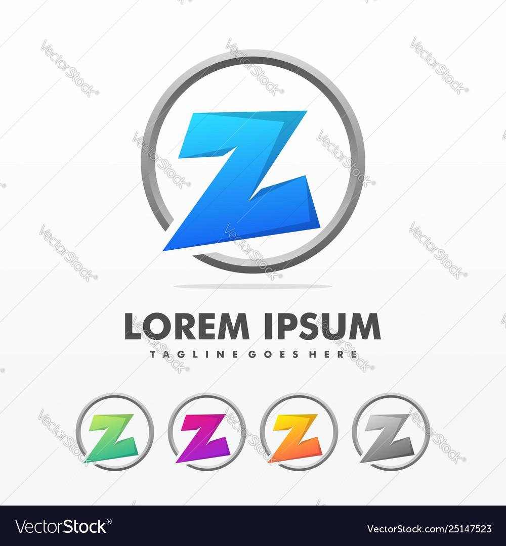 Initial letter z triangle logo design