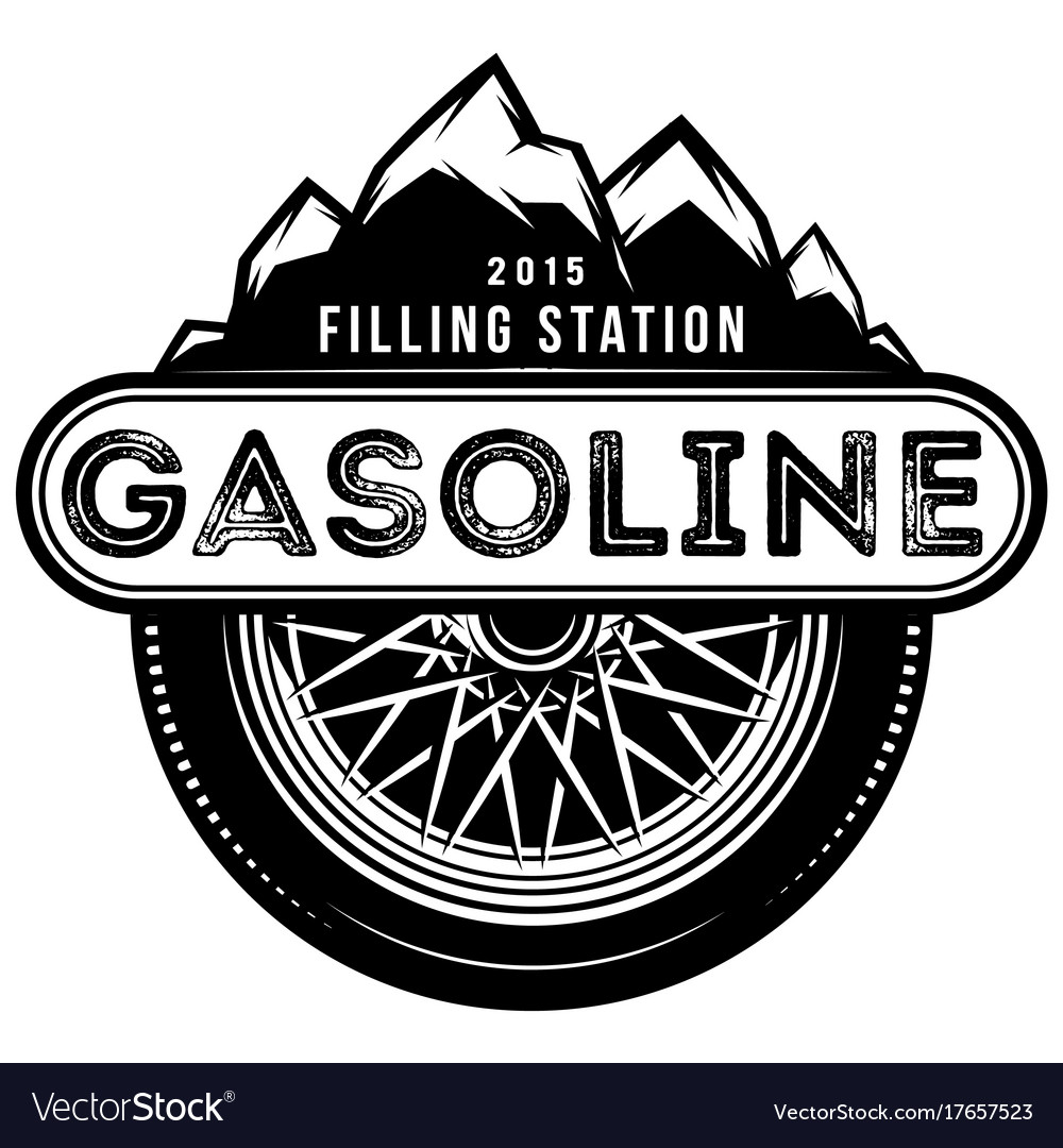 Monochrome template for gas station with